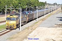 NR71 on 1PA8 Indian Pacific seen here heading though Ashfield on the 17th June 2018