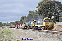 NR72, NR50 and NR113 on 6SP5 freighter seen here heading though Hazelmere for PFT Kewdale on the 12th April 2020