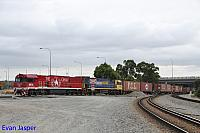NR74 and NR46 on 3SP7 freighter seen here arriving into PFT Kewdale on the 1st March 2019