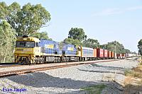 NR77 and NR89 on 3PS6 freighter seen here heading though Hazelmere on the 7th February 2017