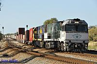 NR84 and NR90 on 1PS6 freighter seen here powering though Hazelmere on the 9th November 2014