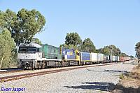 NR85 and NR100 on 1PM5 freighter seen here heading though Hazelmere on the 28th February 2016
