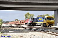 NR92 and MRL004 on 1030 loaded MRL iron ore train seen here powering though Forrestfield South for Kwinana on the 17th December 2017