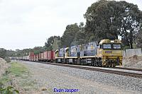 NR92, NR94 and NR11 on 6SP5 freighter seen here heading though Hazelmere for PFT Kewdale on the 19th April 2020