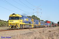 NR96 and DL41 on 7MP5 freighter seen here powering though Stratton on the 14th October 2014