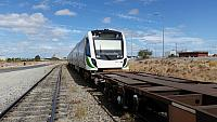Transperth newiest Railcar B set 114 being shunted around Kewdale 16th March 2016