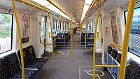 Inside a Transperth B set railcar train