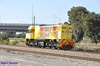 DAZ1901 on 4120 light engine from Forrestfield to Kwinana seen here heading though Forrestfield South on the 7th June 2017