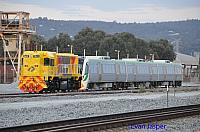 DAZ1901 on 6135 sitting with B set 5102 at Flashbutt Midland on the 17th October 2014