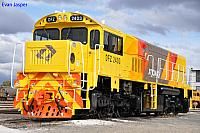 Just released from the paintshop is DFZ2403 in the new QR National Colours at Forrestfield on the 23rd July 2011