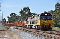 ACA6011 and ACA6002 on 5030 loaded Iron Ore at Millendon Junction on the 16th August 2012