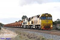 ACB4403 and ACA6012 on 7030 loaded MRL iron ore train seen here heading though South Guildford for Kwinana on the 10th May 2014
