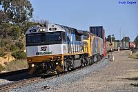 LDP002 and CLP11 on 7PM1 freighter departing Forrestfield on the 30th October 2010