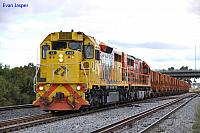 LZ3103 and Q4003 on 6035 empty iron ore train at Forrestfield on the 3rd May 2013