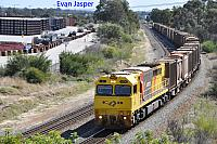Q4006 on 5430 Sulphur train seen here heading though High Wycombe for Kwinana on the 10th April 2020