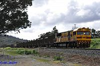 Q4006 on 3430 Sulphur train seen here powering though Brigadoon on the 10th August 2016