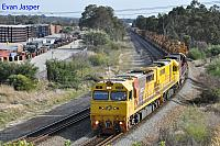 Q4008, Q4003 and MRL002 on 6426 Kalgoorlie freighter seen here heading though High Wycombe for Kwinana on the 4th April 2020