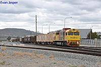 Q4011 on 5430 Sulphur train train seen here heading though Midland for Kwinana on the 24th April 2020