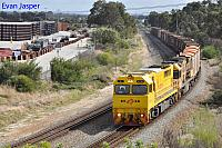 Q4016 and AC4304 on 1430 Sulphur train seen here heading though High Wycombe for Kwinana on the 13th April 2020