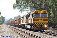 Q4016 and ACC6030 on 2030 loaded MRL iron ore train seen here powering though Herne Hill for Kwinana on the 21st April 2014