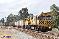 Q4017 and LQ3121 6430 Sulphur train seen here heading though Millendon Junction for Kwiana on the 6th September 2014