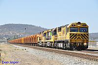 Q4017, ACA6011 and ACB4404 on 2030 loaded MRL iron ore train seen here powering though Midland for Kwinana on the 14th April 2014