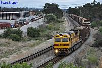 Q4019 on 7430 Sulphur train seen here heading though High Wycombe for Kwinana on the 12th April 2020