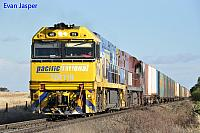 NR119 and NR75 on 6BA6 freighter seen here powering though Swanport (SA) for Adelaide on the 10th November 2013