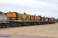 1204, 873, 851 and 850 sits at Wadinna ready to depart with 2CG2 grain train on the 13th April 2015