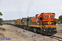 1204, 873, 851 and 850 on 2CG2 loaded grain train seen here heading though Kopi (SA) on the 13th April 2015