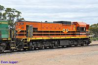 1204 sits at Wadinna ready to depart with 2CG2 grain train on the 13th April 2015