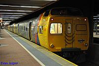 Adelaide Metros railcars 2109 2010 2006 2112 is seen sitting at Adelaide Station ready to do a Gawler bound service on the 16th April 2015