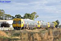 Adelaide Metro railcars 3005/3012/3020 work a Adelaide bound service though Dudley Park on the 5th April 2017