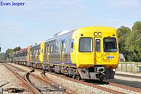 Adelaide Metro rail cars 3021/3024 and EMU4002 work a empty rail car service from Adelaide to Dry Creek depot seen here heading though Dudley Park on the 5th April 2017