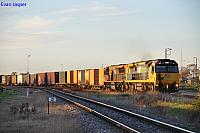 6007 and LDP007 on 2PM1 freighter departing Dry Creek Yard for Melbourne on the 1st August 2012