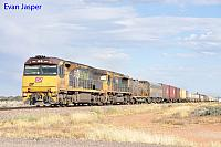 6009 and LDP007 on 6MP1 Aurizon freighter seen here powering though Tent Hill on the 8th April 2017