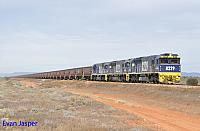 8229, 8201 and 8252 on 1FP1 empty coal train seen here at Emeroo (Port Augusta) on the 12th April 2015