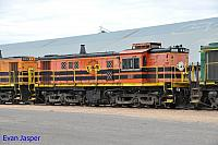 851 sits at Wadinna ready to depart with 2CG2 grain train on the 13th April 2015