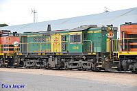873 sits at Wadinna ready to depart with 2CG2 grain train on the 13th April 2015