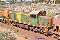 CK3 on BW22 loaded iron train seen here heading though Whyalla on the 10th April 2017