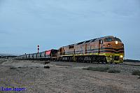 CLF5 and FQ01 on 4174S grain seen here departing Snowtown for Adelaide on the 13th April 2015