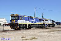VL360 and CM3309 is seen here running around its train (Balco) at Pelican point (SA) on the 15th April 2015