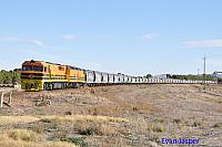 FQ01 and CLF5 on 4174S GWA grain train seen here at Snowtown on the 11th April 2015