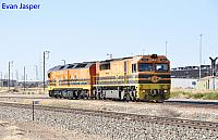 FQ02 and ALF18 on D211 light engines seen here at Dry Creek on the 3rd April 2017