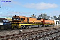 FQ02 and CLP17 on D131 Light engines seen here heading though Dudley Park for Adelaide Passenger Terminal on the 11th April 2017
