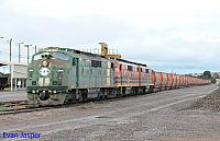 GM46, GM43 and GM42 on 6M22S loaded ballast train ready to depart Whyalla Yard for Spencer Junction (Port Augusta) on the 17th April 2015
