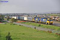 NR117 and NR90 on 6PM7 freighter heading though Dry Creek North Yard on the 5th August 2012