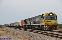 NR119 and NR80 on 1MP5 freighter seen here at Warnertown (SA) on the 13th April 2015