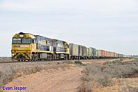 NR22 and NR47 on 6PS7 freighter seen here at Stirling North (Port Augusta) on the 12th April 2015