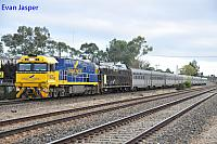 NR25 on 1PA8 Indian Pacific seen here heading though Dudley Park for Adelaide Passenger Terminal on the 11th April 2017